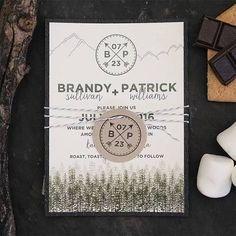 rustic mountain wedding invitations - Google Search More