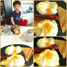 #Breakfast #Egg #Bacon #Toastbread #Luvveett