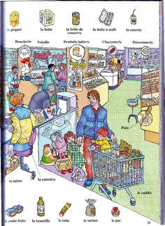 faire des courses, termes du vocabulaire