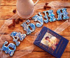 Кулинарные сувениры ручной работы. Ярмарка Мастеров - ручная работа. Купить Пряники Гжель для бабушки. Handmade. Синий