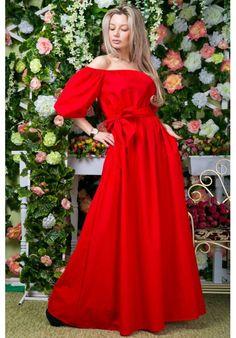 Платье ВХ-6053 (красный цвет)
