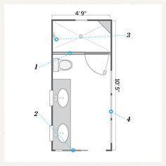 Small Master Bathroom Layout Ideas Best Small Bathroom Floor Plans Ideas On Small Bathroom Plans Small Shower Room And Small Bathroom Layout Small Bathroom Floor Plans, Master Bathroom Layout, Bathroom Small, Bathroom Layout Plans, Bathroom Mirrors, Bathroom Faucets, Minimal Bathroom, Bathroom Closet, Boho Bathroom