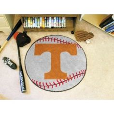 Tennessee UT Vols Volunteers Baseball Shaped Area Rug Welcome/Door/Bath Mat