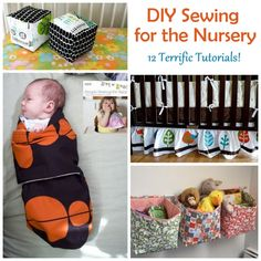 FREE. DIY Sewing For Baby & Nursery (Tutorial Roundup Part 1). Glider covers, sheets, etc..