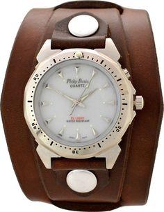 61098617dae2 Men s Brown Leather Cuff Watch - Indiglo Backlight. Muñequeras De  CueroAccesorios De CueroPulseras ...