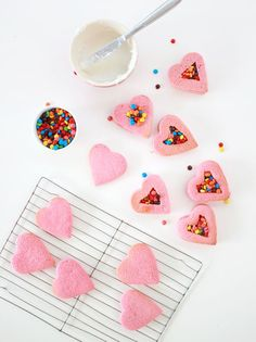 Heart Shaped Pinata Surprise Cookies