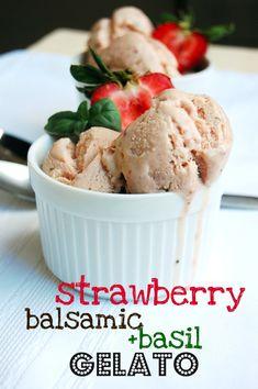 Strawberry, Balsamic and Basil Gelato - 10th Kitchen