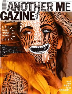 London-based illustrator Hattie Stewart uses magazine covers as canvases to display her signature style.