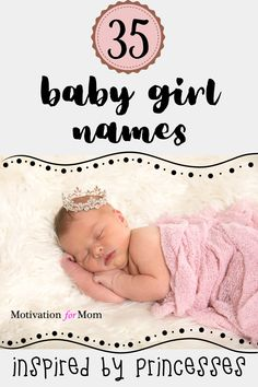 This list has 35 ideas for princess names that are easy to fall in love with. Some of these are disney princess baby names, and some of these are inspired by real life princesses. Whether you are looking for first names or middle names for your baby girl, this list will give you plenty of ideas for baby girl names! #babygirl #babygirlprincessnames #babygirlnames #babynameideas Disney Princess Babies, Baby Girl Princess, Pregnancy Planner, Unusual Baby Names, Quotes About Motherhood, Beautiful Baby Girl, First Pregnancy, Baby Girl Names, Baby Sleep