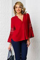bluze-dama-ieftine-online-2 Bell Sleeves, Bell Sleeve Top, Tunic Tops, Women, Fashion, Moda, Fashion Styles, Fashion Illustrations, Woman