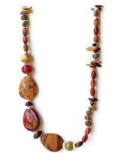 Long Asymmetrical Chunky Bold Colorful Jasper by ALFAdesigns, $89.99