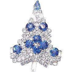 Sparkling Rhinestone Christmas Tree Pin - Sparkling Rhinestone Christmas Tree Pin