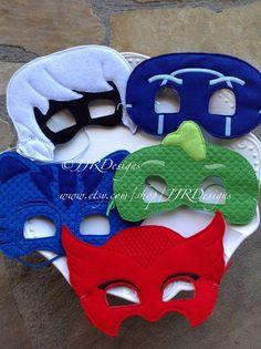 PJ Masks Inspired Mask- Superhero Inspired Masks- PJ Masks- Gecko Inspired Mask- Owl Mask- Cat Mask Cat-sessorize!