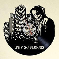 Uhren - Joker Kunst Vinyl-Schallplatte Wanduhr - ein Designerstück von MaxRecords bei DaWanda