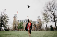 University of arkansas senior pictures at old main college graduation photo Graduation Images, College Graduation Pictures, Graduation Portraits, Graduation Photoshoot, Graduation Photography, Nursing Graduation, Grad Pics, Grad Pictures, Graduation Ideas