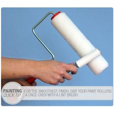 Remove lint from a foam roller with a lint brush #paint #tip