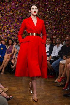 dior -  red coat