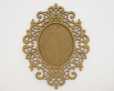 Ornamental Baroque Frame -MDF 3mm, 19cm x 25 cm