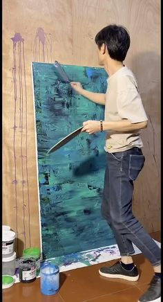 Canvas Painting Tutorials, Diy Canvas Art, Large Canvas Art, Abstract Canvas Art, Large Art, Pintura Graffiti, Acrylic Art, Acrylic Painting Canvas, Painting Gallery