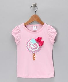 Take a look at this Light Pink Lollipop Tee - Toddler & Girls by More Pink, Please: Girls' Apparel on #zulily today!