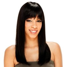 SAGA Remy Human Hair Wig - CLEOPATRA 14 (1 - Jet Black) * This is an Amazon Affiliate link. Want to know more, click on the image.