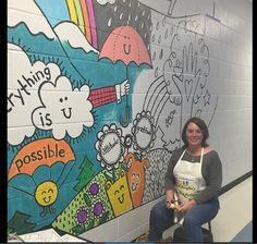 My 500th post! ***UPDATE: student illustration coloring sheets and mural plan now available for you here: https://www.teacherspayteach...