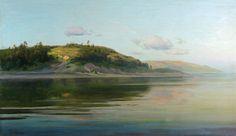 Исаак Левитан » Малоизвестные пейзажи, картины » Вечер на реке