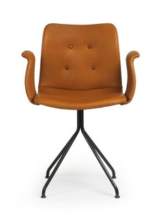 Gallery Image 1989 Bent Hansen: The best dining chair I have ever sat on. Restaurant Chairs, Best Dining, Danish Design, Blue Bird, Chair Design, Designer, Brown Leather, Armchair, Dining Chairs