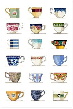 Idea: I've been collecting mugs every year - what if I painted them to symbolize each year?