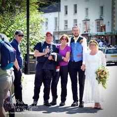 Fun time in Matlock Bath wedding couple  on photo walk #fieldphotographicportraits #wedding #Bride #groom #matlockbath #bikers | From Field Photographic Portrait Studio | http://ift.tt/20TBije