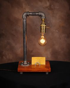 Industrial Edison Lamp by TreeBudsWood on Etsy