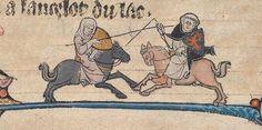 A Monty Pythonesque Duel - Nun v. Monk  @BeineckeLibrary, MS 229, 13th c.