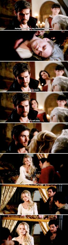 """Perhaps me and the boy should take her there"" - Emma, Regina, Henry and Killian #OnceUponATime"
