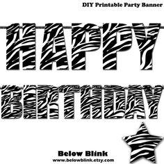 printable happy birthday banner letters