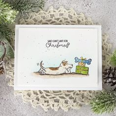 Christmas Cats, Christmas Presents, Handmade Christmas, Anita Jeram, Paper Crafts, Diy Crafts, Dog Cards, Cardmaking, Birthday Cards