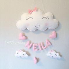 Guirlande nuage et prénom