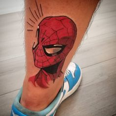 Geek Tattoos, Marvel Tattoos, Dope Tattoos, Sleeve Tattoos, Tattoos For Guys, Spiderman Tattoo, Avengers Tattoo, Z Tattoo, Comic Tattoo