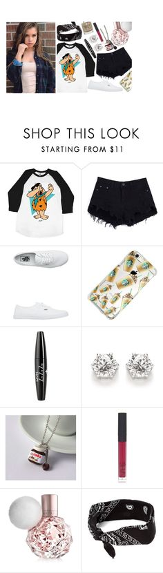 """ tell me honestly , would you still love me the Same? "" by beautiful-disaster-anons ❤ liked on Polyvore featuring Vans, NYX, NARS Cosmetics, claire's and Topshop"