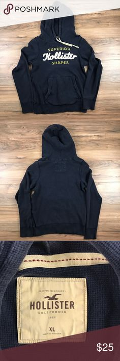 Hollister Pullover Hoodie Hollister pullover hoodie. Adjustable drawstring at hood. Front pouch pocket. Material like thermals. 100% cotton. Excellent condition. Like brand new. Hollister Sweaters