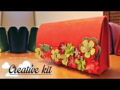 """Come fare """"Borsa in feltro (Mod. Fiorito)"""" Tutorial Creative kit - YouTube"""