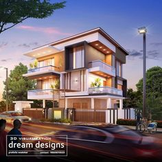 Modern Bungalow Exterior, Luxury Homes Dream Houses, Fantasy House, Sims 4 Houses, Modern House Design, My Dream Home, Home Interior Design, Architecture Design, House Plans