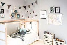 Decoración infantil. Opciones para decorar la habitación de los niños. La estructura de cama es la protagonista. Elegimos camas con forma de casa.