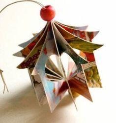 Heart house - christmas ornament from greeting cards // Szivecskés házikó - (karácsonyfadísz) képeslapokból // Mindy - craft tutorial collection // #crafts #DIY #craftTutorial #tutorial #ChristmasCrafts #Christmas