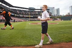 "Garrett Conley, a student at Resurrection-St. Paul School, represented the Archdiocese of Baltimore July 9, when it received the ""Heavy Hitter Award"" from @oriolesbaseball during a ceremony at Oriole Park at Camden Yards."