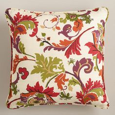 One of my favorite discoveries at WorldMarket.com: Campione Multicolor Throw Pillow
