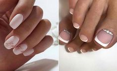 Wedding Nail Ideas – lilostyle #WhiteToenailFungus Wedding Gel Nails, Wedding Nails Design, Bride Nails, Ombre Nail Designs, Toe Nail Designs, White Toenail Fungus, Natural Gel Nails, Nail Art Stripes, Bridal Nail Art