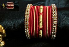 beautiful silk thread bangles set.... Plz visit our page https://m.facebook.com/ankaa.creations and hit a like button. Thank you