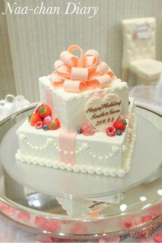 *当日レポ 13 ♡【ケーキカット)♡ * の画像|Naa-chan Diary♡ 可愛い結婚式に ♡ 2 Tier Cake, Tiered Cakes, Baby Birthday Cakes, Classic Cake, Cream Cake, Party Cakes, Yummy Cakes, Cake Recipes, Cake Decorating