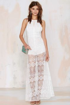 a09e2d3c8ffa at nasty gal Gypsy Queen Lace Dress White Fashion