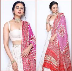 Oct 2019 - Fun and Love Filled Amazing Festive Season Outfit Idea - AwesomeLifestyleFashion A beautiful Pink Lehenga with Shirt This outift is a really beau… Indian Lehenga, Indian Gowns, Indian Attire, Indian Ethnic Wear, Indian Bridal Outfits, Indian Fashion Dresses, Dress Indian Style, Indian Designer Outfits, Fashion Outfits